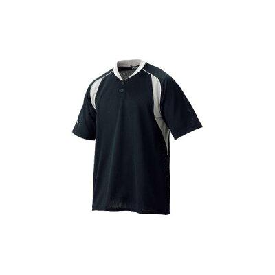 アシックス 野球 プラクティスシャツ 9010 ブラック×S/グレー(bad004-9010)