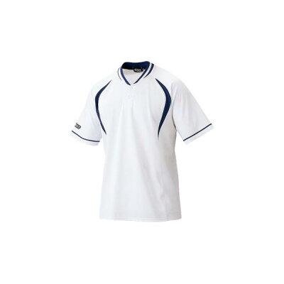 アシックス 野球 プラクティスシャツ 0150 ホワイト×ネイビー(bad006-0150)