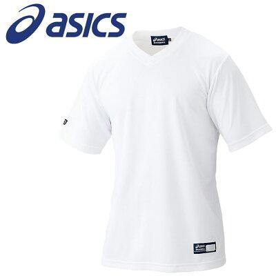 アシックス asics メンズ レディース 野球ウェア ベースボールTシャツ ホワイト BAT005 01