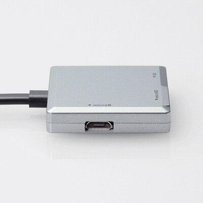 エレコム Lightningコネクタ搭載メモリカードリーダ シルバー LMR-MB15SV(1コ入)