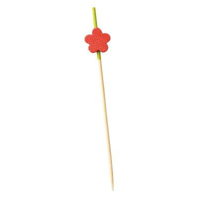 萬洋 飾り串 梅 赤9cm   18-388B