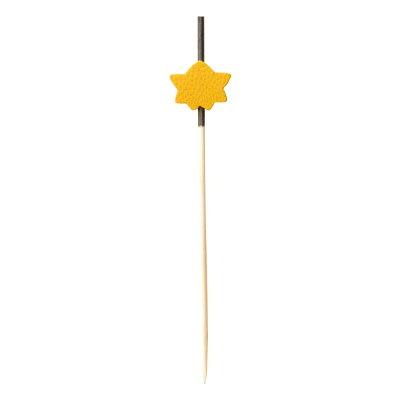 萬洋 飾り串 紅葉 黄7.5cm  18-439B