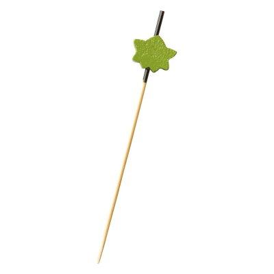 萬洋 飾り串 紅葉 緑7.5cm  18-439C