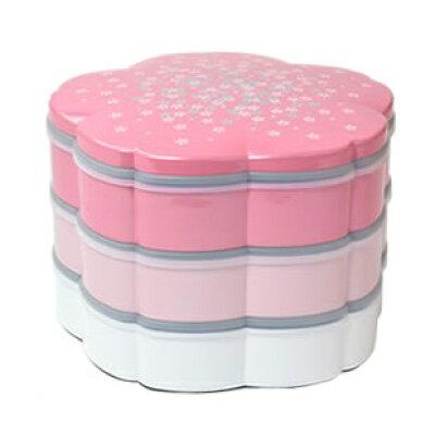 桜の重箱お弁当箱家族用ファミリーランチボックス パールピンク