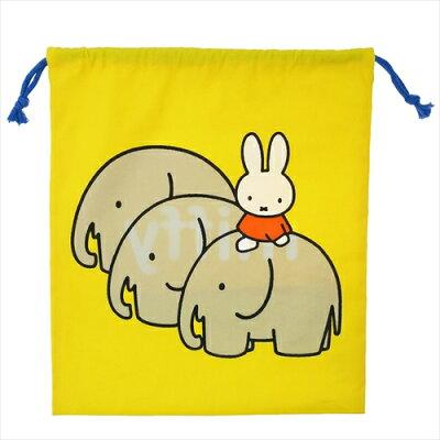 きんちゃくポーチL なかよく行進 ミッフィー 巾着袋 ディックブルーナ 丸眞 31×35cm