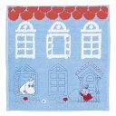 MOOMIN ムーミン 刺繍タオルハンカチ / 家の前のリトルミイ