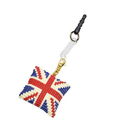 ビーズキット 携帯アクセサリー&チャーム ふわふわチャームキット イギリス国旗