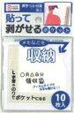 ポケット付箋 ミニ クリアホワイト 10枚入り 9S-255