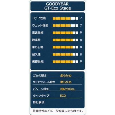 グッドイヤー GT-ECO STAGE 205/60R16 92H 低燃費タイヤ