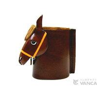 VANCA CRAFT 革物語 本革製メガネ小物スタンド 馬頭 黒茶