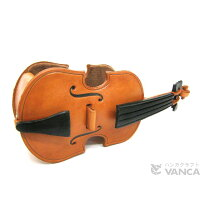 VANCA CRAFT 革物語 本革製メガネ小物スタンド バイオリン