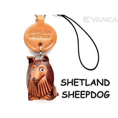 VANCA CRAFT 革物語 本革携帯犬ストラップ プチワンチャン シェットランドシープドッグ