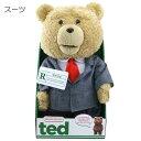 ted/テッド(スーツ)16インチ(約40cm)トーキングぬいぐるみ 映画キャラクターグッズ