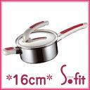中尾アルミ IH対応/ND-5 ニューキングデンジ浅型片手鍋(耐熱取手) 15cm