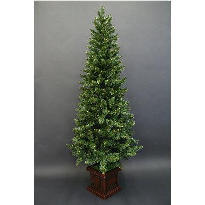 スリムエレガントポットクリスマスツリー・単品 NSPMP60WB-A 180cm