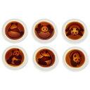 パンダ醤油皿 6種×各1枚セット ZZ000165