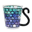 耐熱グラスまるでステンドグラスのような輝き COLOREコローレ ブライトブルー