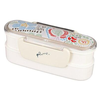 まえじゅう漆器 刺繍 スリムランチBOX / 3R-106