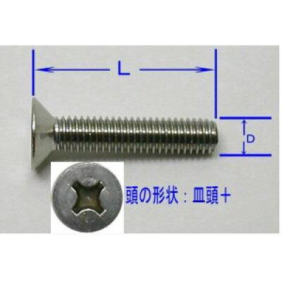 皿頭+ステンレス小ネジ(ねじ)セット5(D)×30(L)mm(3本入)