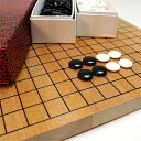 (囲碁セット 5号)木製碁盤+プラスチック製碁石