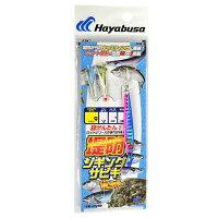 ハヤブサ 堤防ジギングサビキセット 2本 Mサイズ ハリス16lbs 幹糸25lbs 20g 1.ブルピン (HA280)