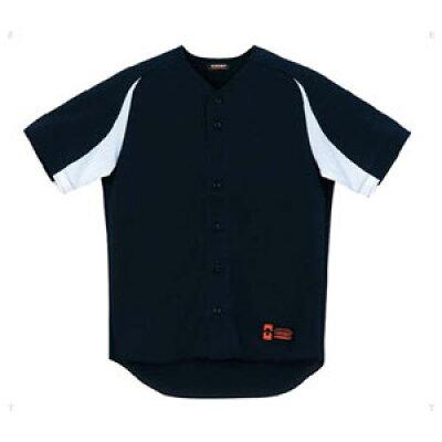 DESCENTE/デサント DB43M-BKSW ユニフォームシャツ カラーコンビネーション ブラック×Sホワイト