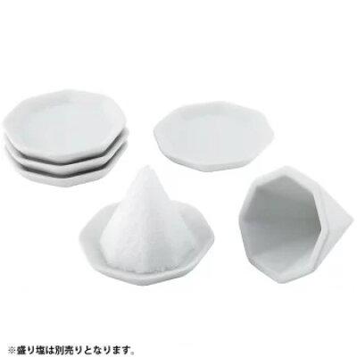 八角盛り塩 小 素焼き八角皿 付き