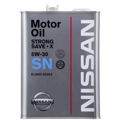 ニッサン NISSAN SN ストロングSX 5W30 4L KLAN5-05304 ガソリン用 純正オイル 0440188