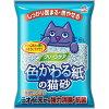 クリーンケア 色かわる紙の猫砂(6L)
