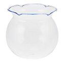 かわいい 手作り ガラス細工 金魚鉢   ブルー cn187