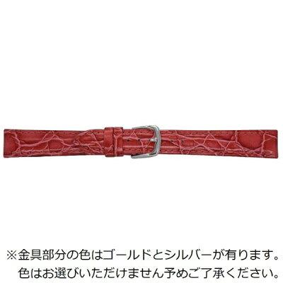 ビーケイシーBEAR時計バンド 革 18-16mm・カーフ・赤 1302318