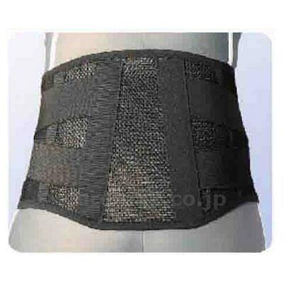 腰部固定帯広幅タイプ中度ガードメッシュ ブラック  サイズ