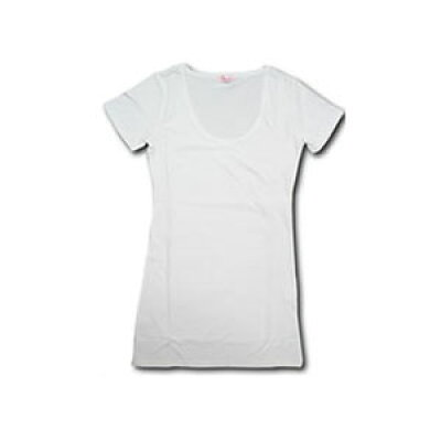 カットソー 深UネックTシャツ 30925-352 ブラック be8418