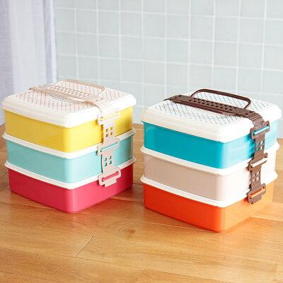 弁当箱 ランチボックス salir familiar ピクニックランチボックス3段 lサイズ