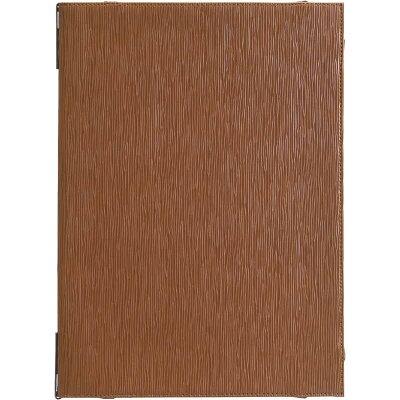 シンビ Shimbi メニューピン仕様 A4判 片面コーナーポケット付 洋風メニューブック A-4 4又は5ページ仕様 EMS ブラウン 1360756