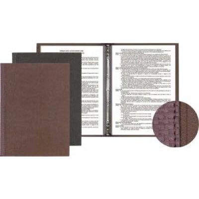 シンビ メニューブックスリム-B・LUP 茶 PAAC602