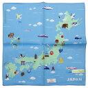 ブルーミーズ プリントハンカチ 日本地図 6221