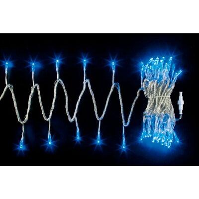 100球LEDライト(常点灯-コントローラー接続可)(ブルー/クリアコード)(クリスマスデコレーション)