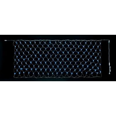 180球LEDネットライト(常点灯-コントローラー接続可)(クリア/クリアコード)(クリスマスデコレーション)