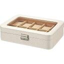 ユーパワー ウォッチコレクションボックス 10ウォッチ WC-03511 ホワイト(1コ入)