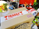 DULTON PRINTED PACKING TAPE(カートンテープ)(FRAGILE) PPT-1