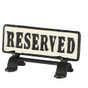 (DULTON)ダルトン Reversible sign stand 〓Reserved〓 S455-175RE 予約席看板