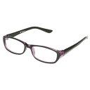 老眼鏡 READING GLASSES BK/PURPLE 2.5