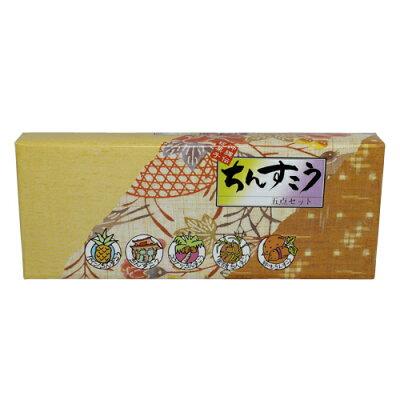 名嘉真製菓本舗 ちんすこう 5点詰合せ (プレーン・パイン・ココナッツ・黒糖・紅芋) 14個入り