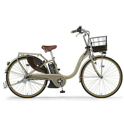 ヤマハ YAMAHA 26型 電動アシスト自転車 PAS With DX(マットカフェベージュ/内装3段変速)PA26BGWD92019年モデル