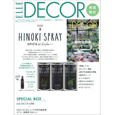 ELLE DECOR 2019年6月号×SPICE OF LIFEヒノキ天然消臭   /ハ-スト婦人画報社