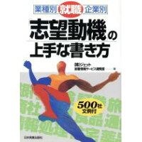 就職「志望動機」の上手な書き方 業種別・企業別  /日本実業出版社/ジェット