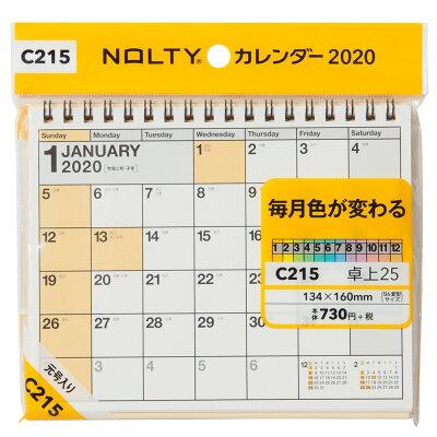 C215 NOLTYカレンダー卓上25  2020 /日本能率協会マネジメントセンタ-