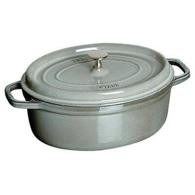 STAUB ホーロー鍋 ピコココットオーバル 2.3L 40500-236 グレー