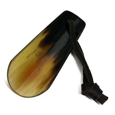 携帯用 靴べらSaphir Noirサフィール ノワール リアルシューホーン F10天然の水牛角使用男性へのに